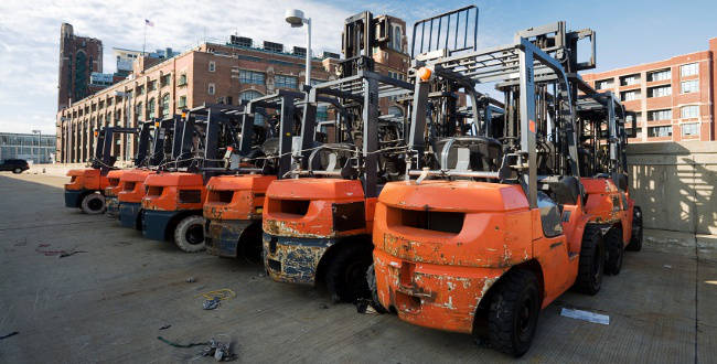 full selection of Jacksonville used forklifts